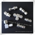 Forged Stainless Steel Fitting Pipe Four Ferrule ASTM 304 316 316L Tubing Fitting