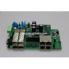 POE + commutateur pcb géré industriel 4 port sfp et 4 poe switch IEEE802.3af, IEEE802.3at
