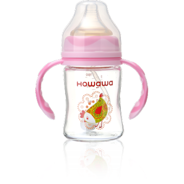 6oz Infant Glass Milk Feeding Bottle Holder