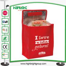 Saco não tecido popular personalizado logotipo do refrigerador dos PP