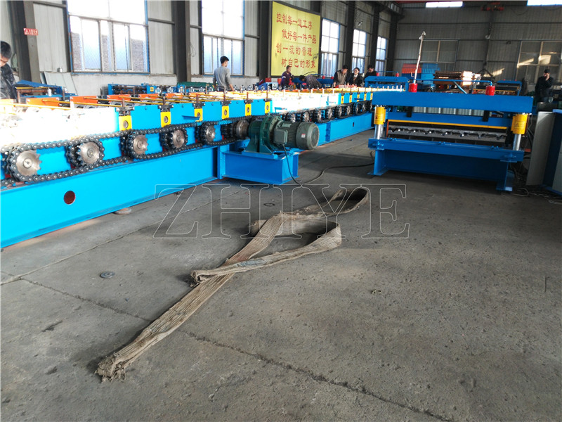 Hydraulisk PPGI Roof Steel Deck Roll Forming Machine