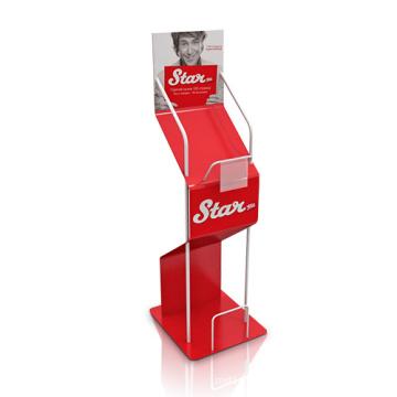 Foldable Cardboard Brochure Holders, Pop Floor Display Stand