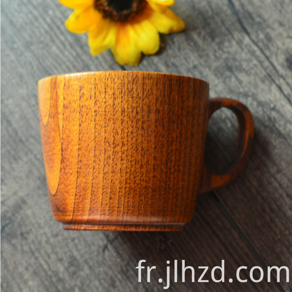 Wood Handle Milk Cup