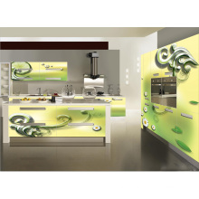 Home Use DIY 3D Glass Kitchen Cabinet