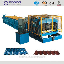 azulejo de azotea de acero rodillo formando azulejo de máquina que hace la máquina corrguated acero de hoja para techos de chapa techos de metal corrugado