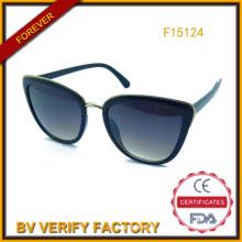 Nouvelle tendance PC & Metal lunettes de soleil, lunettes vend chaud (F15124)