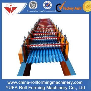 Special for Roof Panel Roll Forming Machine High Speed 780 corrugated roll forming machine supply to Cambodia Manufacturer