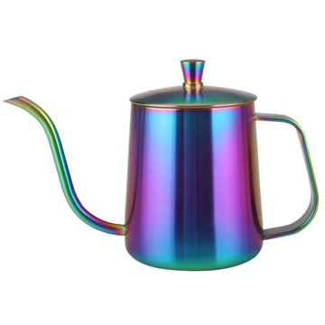 Pot de café arc-en-ciel coloré long bec étroit