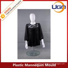 Molde de plástico branco de meia parteira de corpo Molde de manequins feminino