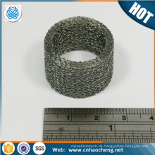 Customized 304 316 compress knitted wire mesh gasket /pressure washer metal filter