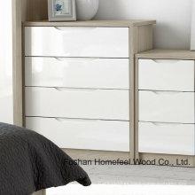 Moda simplemente pintando dormitorio 4 gabinete de pecho cajón (HC30)