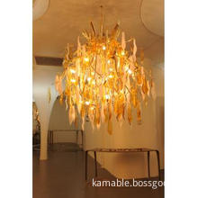 Big french gold chandelier pendant lighting for hotel hall