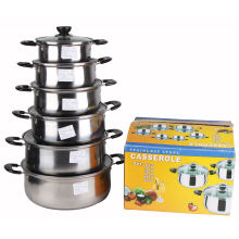 12PCS Set Stainless Steel Soup Pot