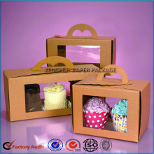 Cupcake cake packaging paper box with handle