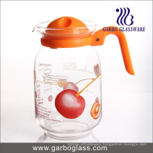 1.6L Blown Glass Jug with Fancy Design Printing