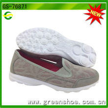 Nueva llegada transpirable Slip on Shoes para mujeres (GS-76871)