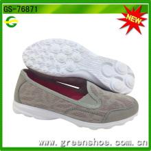 Deslizamento respirável chegada nova em sapatos para as mulheres (gs-76871)