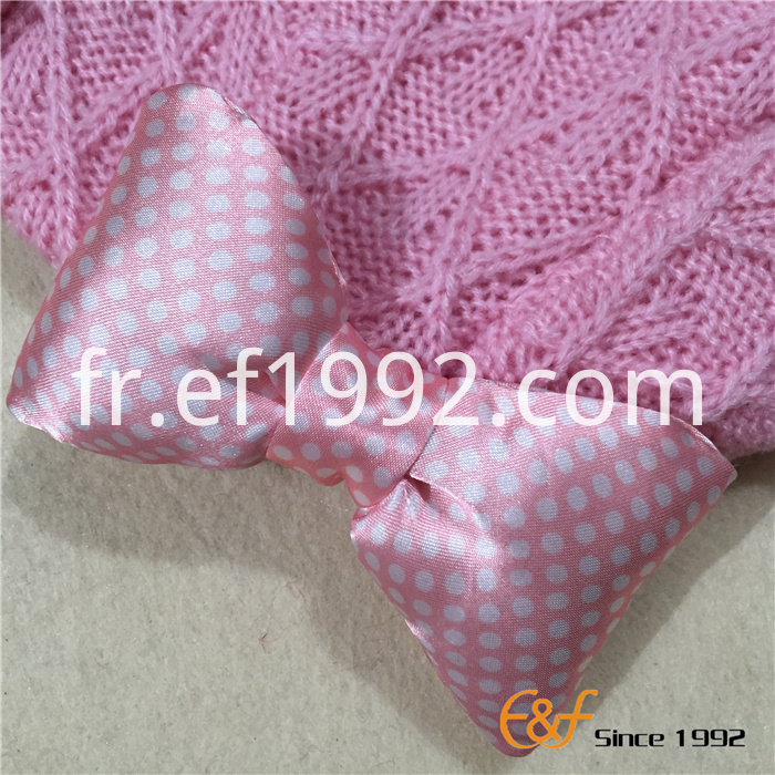 bowknot design knitted hat