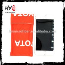 Tamanho personalizado silk printing microfiber drawstring pouch