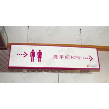 Toilet Notice Acrylic LED Direction Sign