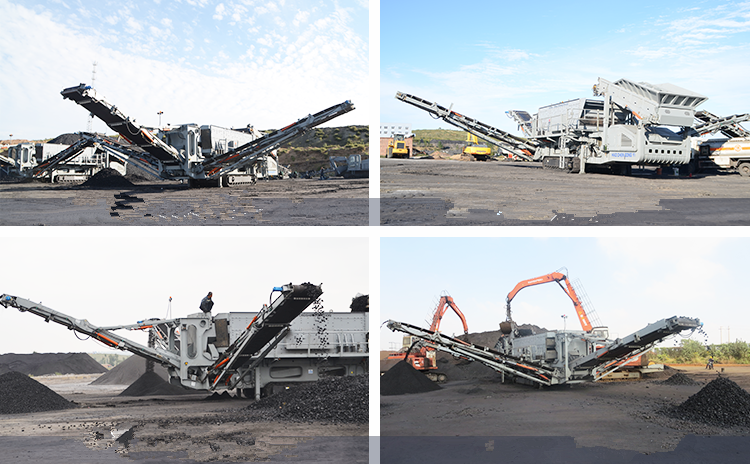 Case tracked cone crushing plant