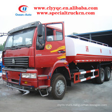 SINOTRUK 6X4 water tanker 20cbm 20000 liter water tanker truck for sale