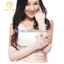 2014 new fashion fingerless lace bridal gloves