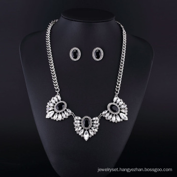 2016 Feather Style Rhinestone and Agate Zinc Alloy Rhodium Plating Necklace