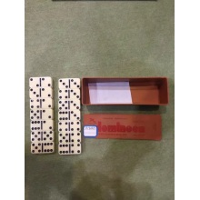 Drawer Style Plastic Box Double 6 Dominoes Set