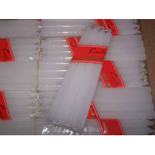 White Bright Taper Pillar Wax Candle for Ghana