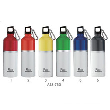 Botella de agua de aluminio ovalada (A13-750), 750ml