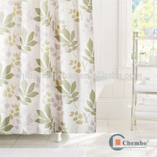 Hotsale custom printed leaves shower curtains