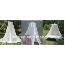 Lacy, cryptage polyester, princesse blanche romantique et élégant accroche la moustiquaire sur le dôme