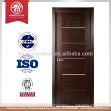 La dernière porte moderne en bois porte intérieure porte porte intérieure. Dessins en porte unique en bois à vendre