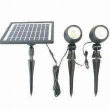 Solar Spot Light with Long Life Lithium Battery