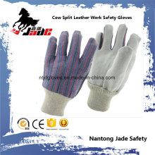 Cuero de vaca más barato cuero dividido mano industrial guante de trabajo de seguridad
