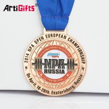 Medalla de recuerdo de Metal Powerlifting con Medalla de Medalla de Metal personalizada