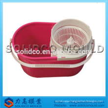 Plastic cleaning mop bucket mold best sell 360 spin mop bucket mould