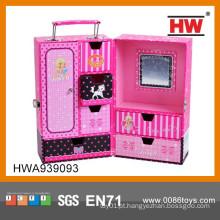 Moda mala de papel rosa para crianças