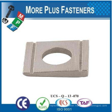 Made in Taiwan DIN 434 Square Taper Washer Bevel Square Washer for Channels