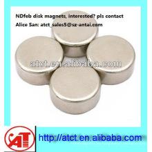Mejor calidad de motor de imán de disco de níquel-galjanoplastia N42