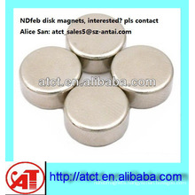 Best quality of N42 Nickel-plating disc magnet motor