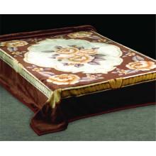 royal design print & carved cheap polyester blanket
