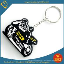 En gros Haute Qualité Personnalisé De La Mode Motor Racing PVC Porte-clés En Style Cool