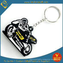 Wholesale High Quality Customized Fashion Motor Racing PVC Key Chain in Cool Style