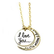L'Europe et les États-Unis Je t'aime à la lune et au dos Collier de bijoux à la vente chaude (YN0177)