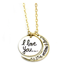 Europe and The United States I Love You to The Moon and Back Hot Sell Jewelry Necklace (YN0177)