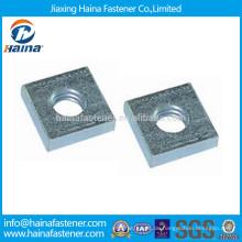DIN562 verzinktes Carbon Steel Square Thin Nut