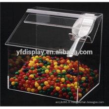Boîte de bonbons acrylique en couleur transparente