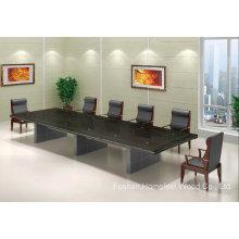 Mesa de conferência de folheado de madeira sólida de estilo clássico (HF-FHY1002)